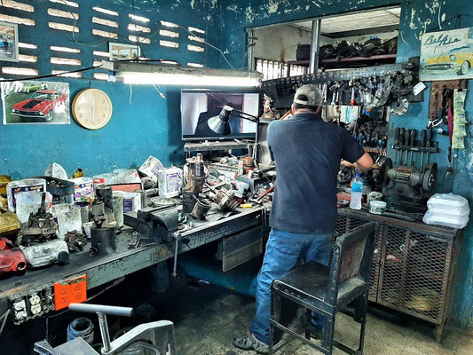 Die Werkstatt in Santiago de Veraguas