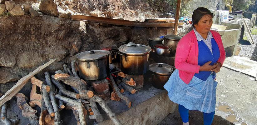 Die Restaurant-Küche an der Laguna