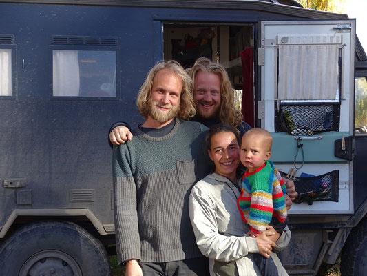 Kasper, Boris, Laila und Moos
