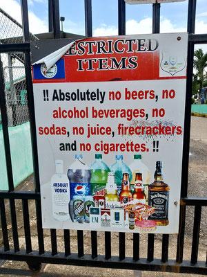 Alkohol, Zigaretten, Feuerwerk - verstehen wir - doch Fruchtsäfte und Sodawasser?