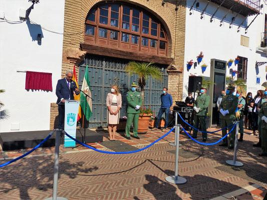 Ayuntamiento/Rathaus mit Bürgermeisterin María Ángeles Muñoz bei der feierlichen Einweihung....