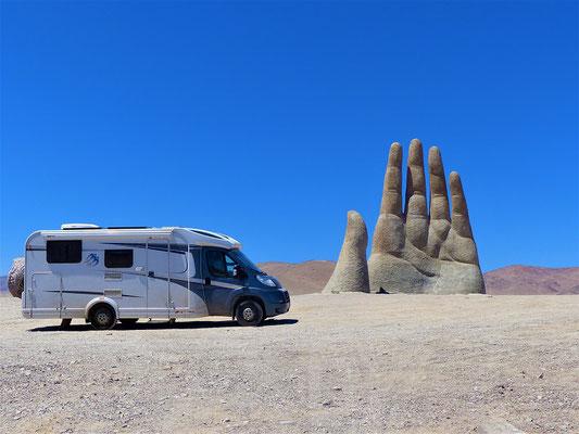 La Mano del desierto - die Wüstenhand - unsere 3. Hand in Südamerika ;o))
