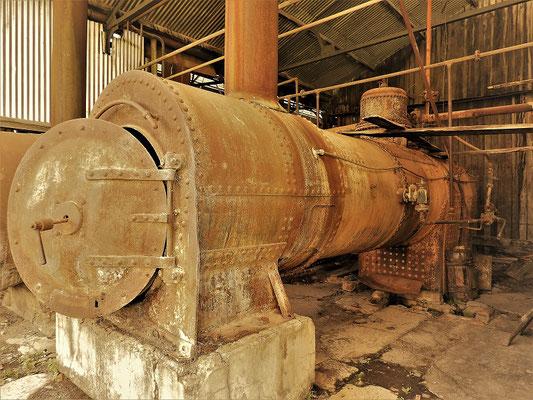 Drei Dampfmaschinen trieben alle Arbeitsgeräte in der Reparaturhalle an