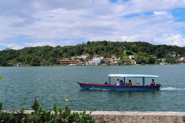 Blick nach San Miguel, am gegenüberliegenden Nordufer des Sees