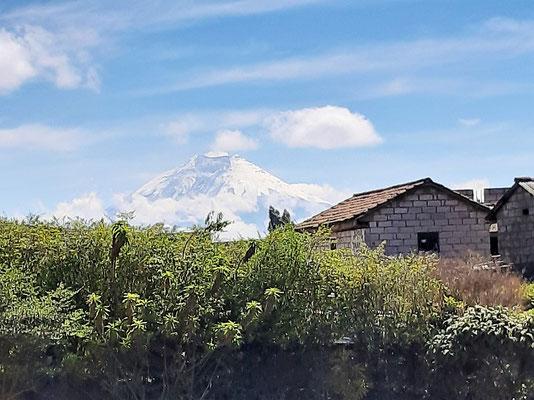 Unser Ziel - den Vulkan Cotopaxi - können wir im Moment nur aus der Ferne geniessen
