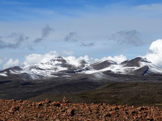 Blick auf die Vulkane