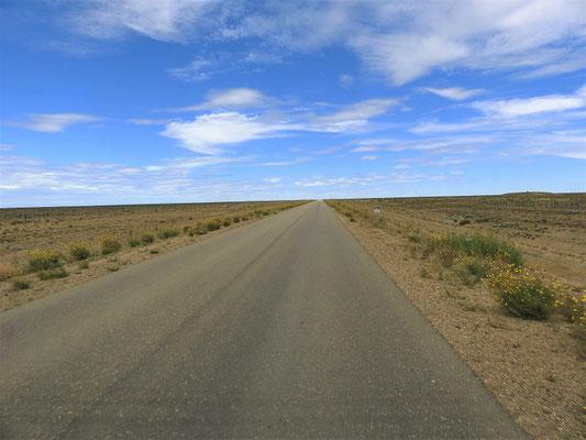 Kilometer für Kilometer einfach geradeaus!