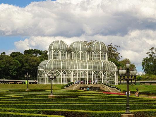 Botanischer Garten mit dem prachtvollen Gewächshaus