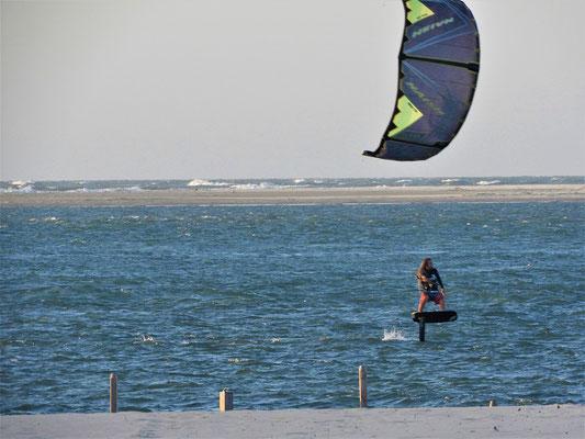 ... ein für uns ungewöhnliches Kitesurf-Brett