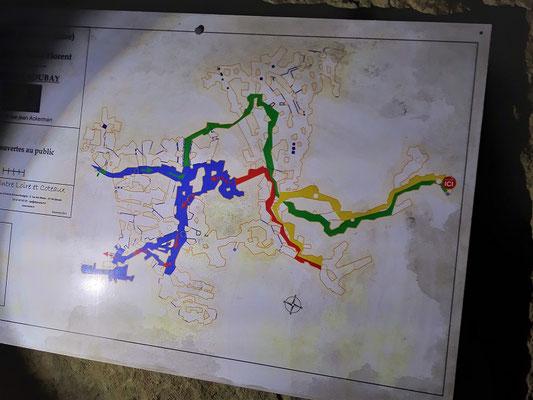 Plan der Tuffstein-Höhlen