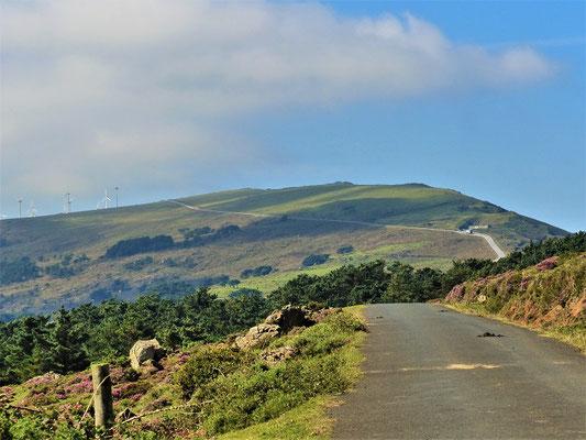 Die Strasse den Kliffs entlang
