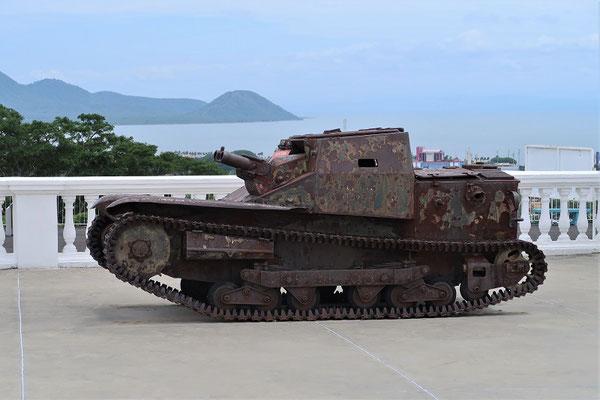 Der kleine Panzer war ein Geschenk von Diktator Mussolini an Diktator Somoza