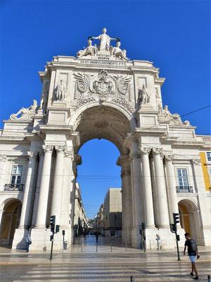 Arco da Rua Augusta - Triumphbogen....