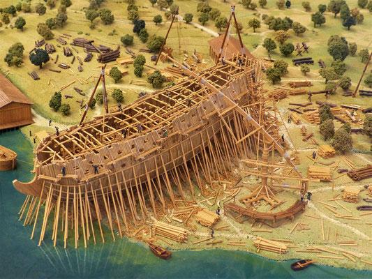 ....so wurden früher Schiffe gebaut