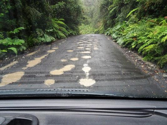 Fahrt auf der Carretera Austral bei Regen