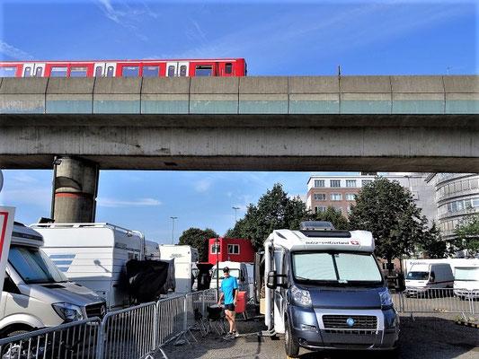 Unser Standplatz 'Am Grünen Deich' in Hamburg