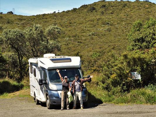 Wir haben den höchsten Punkt der Panamericana zwischen Feuerland und Alaska erreicht - 3300müM
