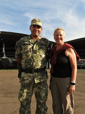 Pilot - Hauptmann PAM Jorge Hermosilla - hat uns sehr unterstützt. Muchas Gracias!
