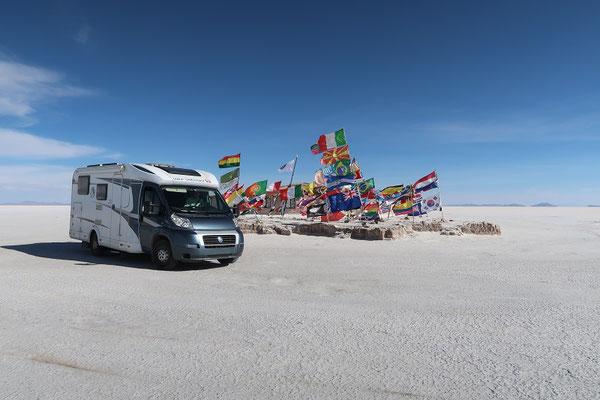 Auf dem Salar de Uyuni - grösster Salzsee der Welt