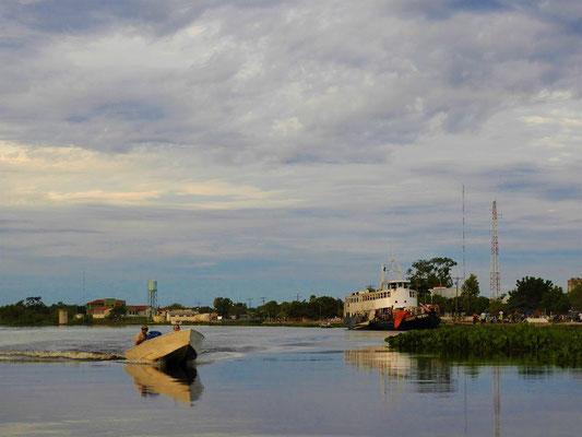 Weiter geht die Fahrt mit einem Boot nach Los Tres Gigantes