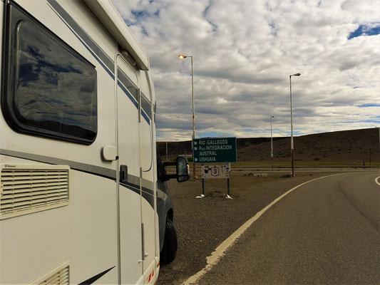 Nur noch 620 Kilometer bis Ushuaia