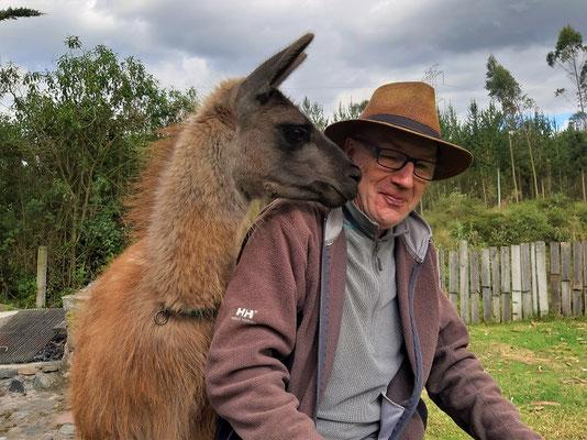 Die Lama-Dame hat sich in Röbä verliebt ;o))