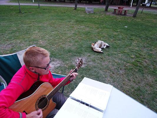 Camping 'El Pino' - Dem Hund scheinen meine Lieder zu gefallen ;o))