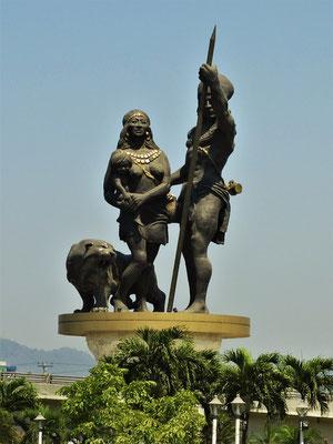 Die Namensgeber der Stadt - Puna Häuptling Guayas und seine Frau Quil