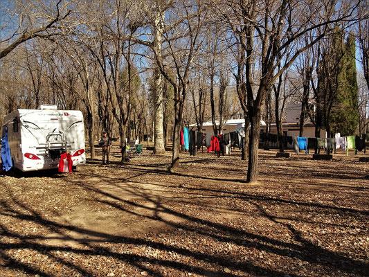 Grosse Wäsche im Camping