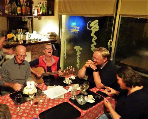 40. Geburtstag von Tobias - mit Fondue und Kirsch - bei Silvia und Heinz vom Paraiso Suizo