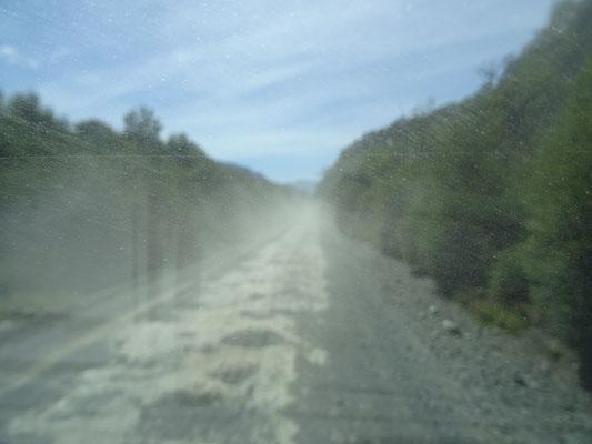 Sehr oft war dies unsere Sicht auf der Carretera Austral