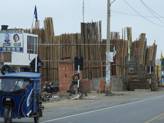 Geschäft für Bambus-Stangen - in allen Längen und Dicken