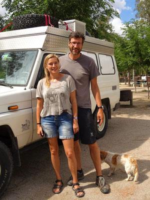 Sonja und Markus auf dem Camping in Cafayate