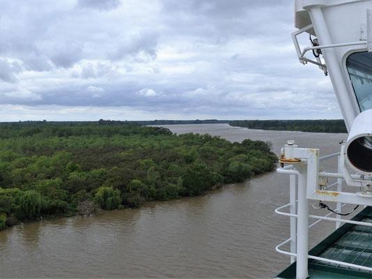Auf dem Río Paraná Richtung Buenos Aires