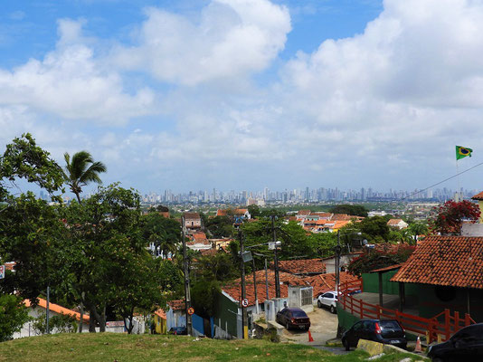 Blick über Olinda nach Recife