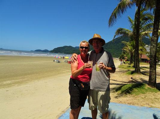 Am Strand in Peruíbe