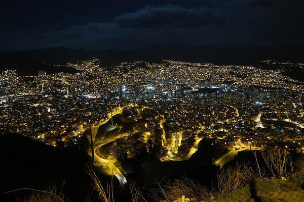 Das Lichtermeer von La Paz