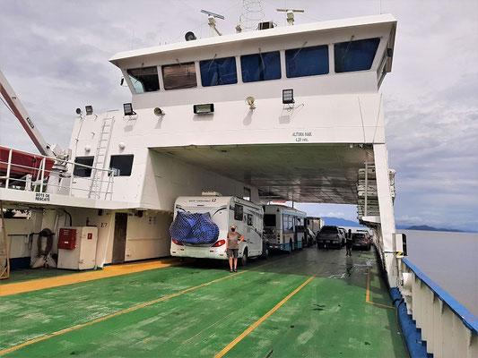 Auf der Fähre von Puntarenas nach Naranjo
