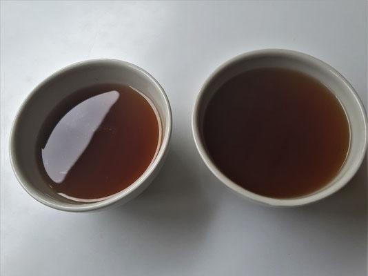 Agua de Panela - beliebtes Getränk. Nichts anderes als warmes Zuckerwasser mit ev. einem Schuss  Limettensaft.