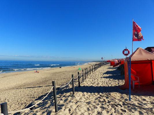 Der leere Atlantik-Strand in Furadouro