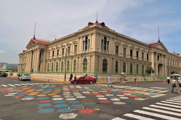 Palacio Nacional - hier kommt man nur mit Covid-Impfausweis rein :o(