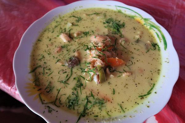 Typisches Essen - Sopa de Maní/Erdnuss-Sppe