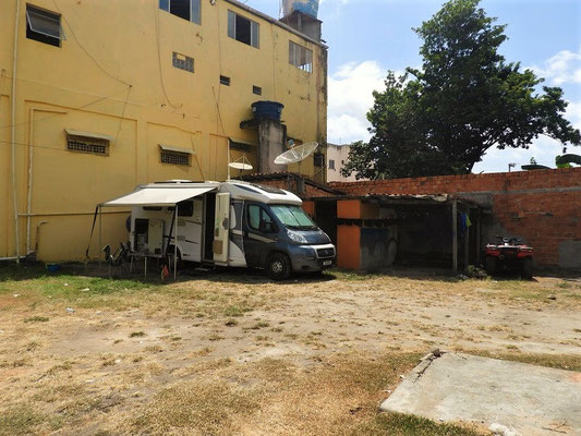 Unser Hinterhof-Camping in Barreirinhas