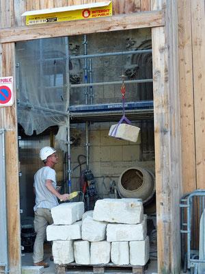 Der heute teure Tuffstein wird meistens nur noch zur Renovation von Kirchen und Schlössern benutzt