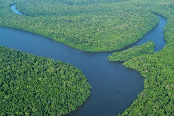Gestern sind wir mit dem Boot auf diesem Fluss zurück nach Barreirinhas gefahren