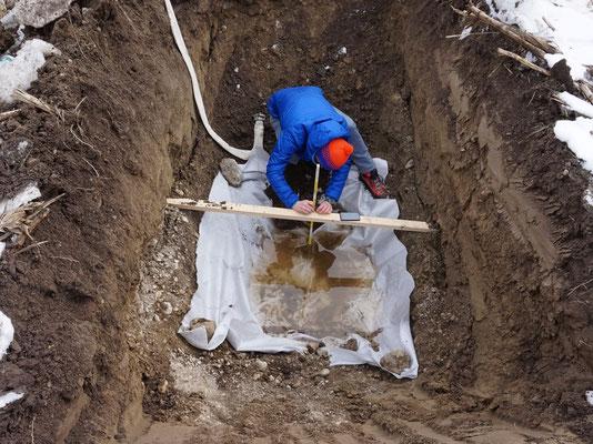 Bestimmung der Durchlässigkeit des Untergrundes