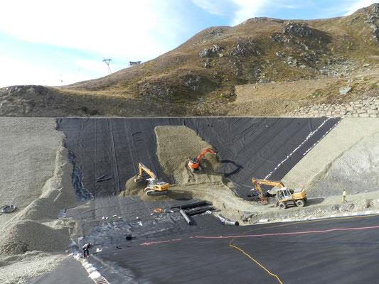 Speicherteichbau - Geotechnische Betreuung