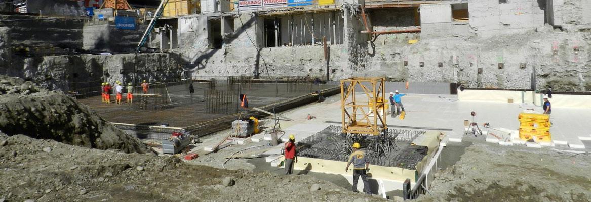 Baugrubensicherung, Unterfangung mit Hochdruckbodenvermörtellung