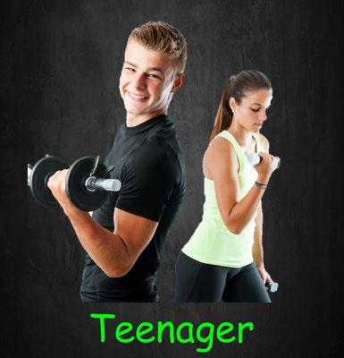 Training für Teenager, Jugendliche, Zirkeltraining, Krafttraining, Ausdauertraining, Beweglichkeitstraining, Faszientraining, Athletiktraining