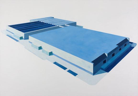 Plateforme. Huile et acrylique sur toile. 162/230 cm . 2014